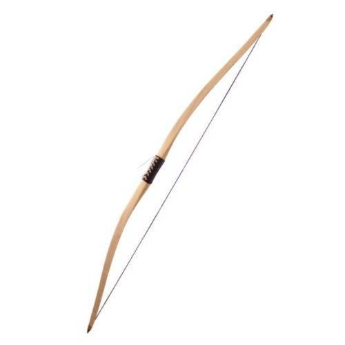 Arco Funcional 152 cm Hecho a mano, de fibra de vidrio de resistencia y su flexibilidad y cubierta de madera laminada, empuñadura de cuero
