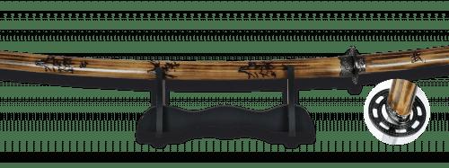 Katana Carbono de Acero Carbono con Peana. Hoja 69 cm