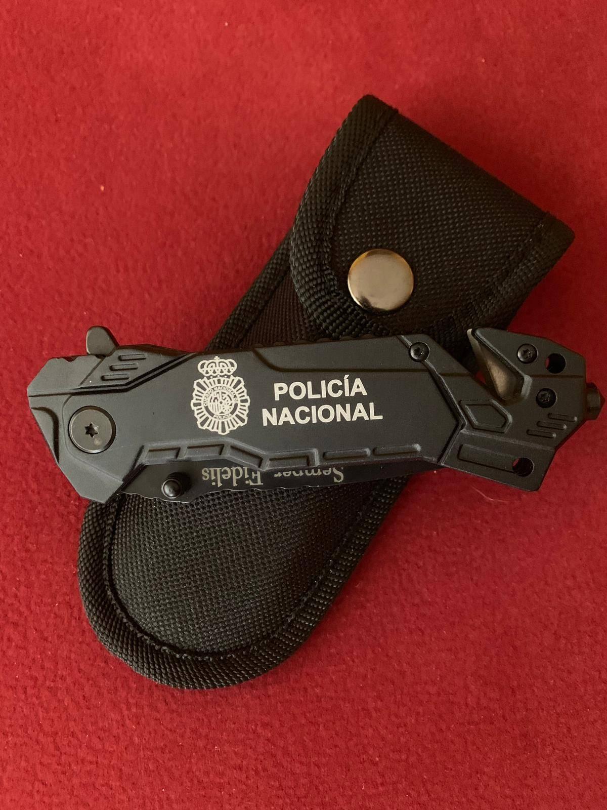 Navaja personalizada Policía Nacional