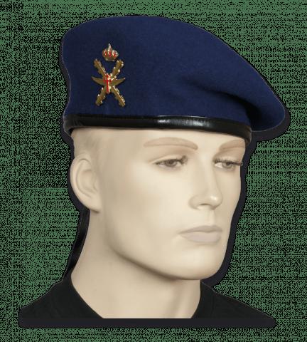 BOINA M-85 AZUL HELICOPT CON EMBLEMA. TALLA 54