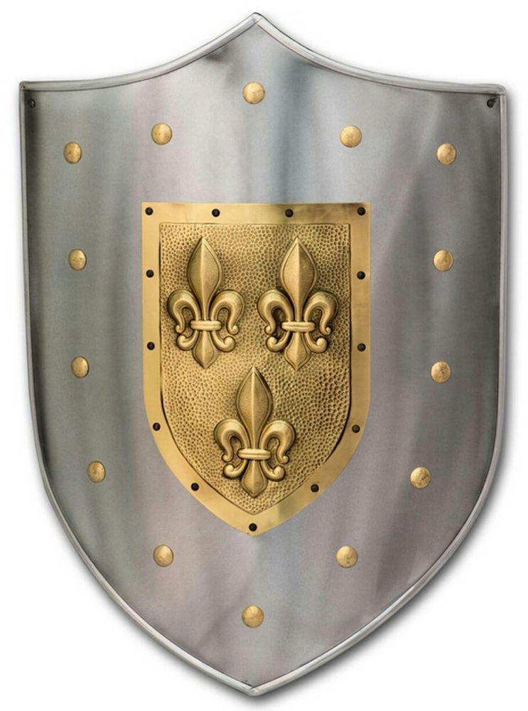 Escudo Medieval Flor de Lys