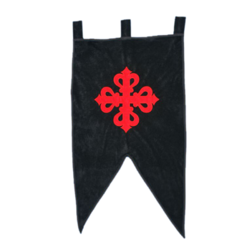 Estandarte Orden de Calatrava con cruz Bordada ( 61 x 106 cm.) algodón 100%.