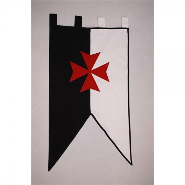 Estandarte de la Orden del Temple con cruz roja bordada (61 x 106 cm.). Tejido 100% algodón