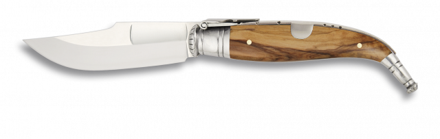 Navaja clásica LUJO  Olivo. Medidas disponibles Hoja de 5cm, 6 cm, 7.5 cm ó 9 cm