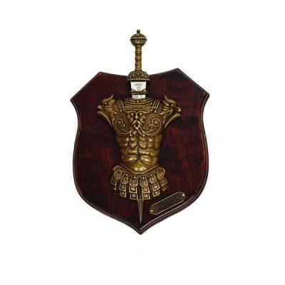 Panoplia peto MOD.1 1 Daga. Fabricada en madera. Medidas 27 x 20 cm