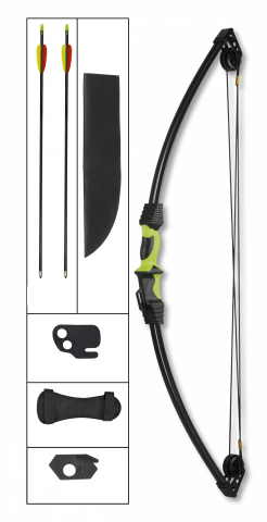 arco poleas negro/verde. 12 LBS set