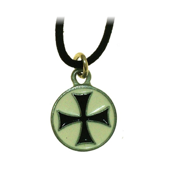 Colgante Cruz Templaria Negra