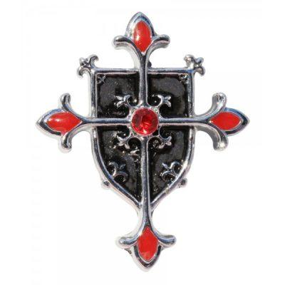 Colgante Cruz Templaria  y Escudo