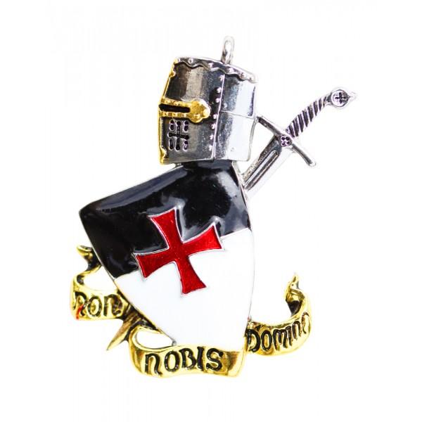 Colgante Templario Non Nobis Domine